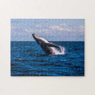 Humpback Whale Breaching off Surfers Paradise Jigsaw Puzzle