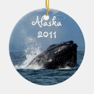 Humpback Whale Feeding Christmas Ornament