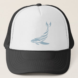 Humpback Whale in Swish Drawing Style Trucker Hat