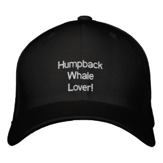 HUMPBACK WHALE LOVER Embroidered Cap
