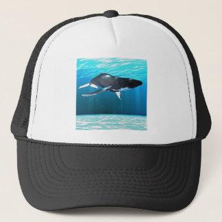 Humpback Whale Swimming Trucker Hat