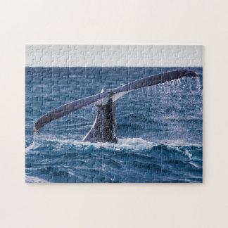 Humpback Whale Tail Fluke Off Surfers Paradise Jigsaw Puzzle