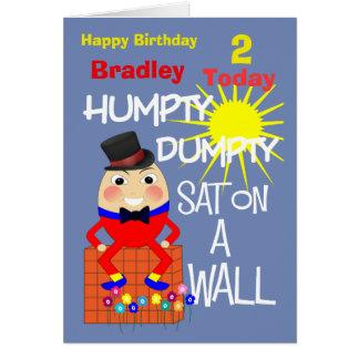 Humpty Dumpty Cute Personalised Kids Birthday Card