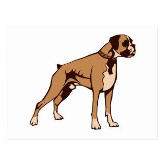 Hund Boxer dog Postkarten