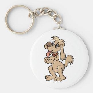 Hund, Mein bester Freund Basic Round Button Key Ring