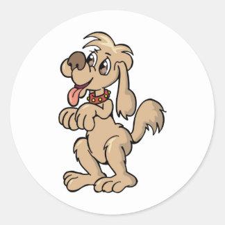 Hund, Mein bester Freund Round Sticker