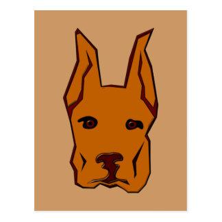 Hundegesicht Hund dog face Postkarte