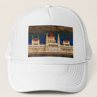 Hungarian Parliament Building in Budapest, Hungary Trucker Hat