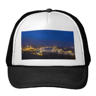 Hungary Budapest at night panorama Cap