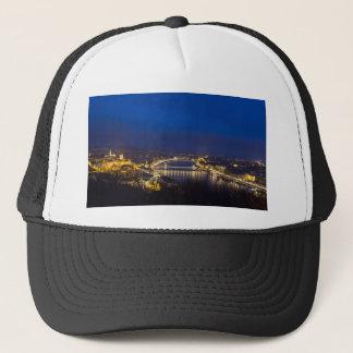 Hungary Budapest at night panorama Trucker Hat