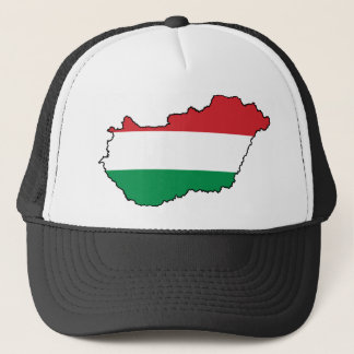 Hungary Flag Map HU Trucker Hat