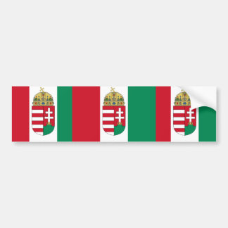 Hungary Vertical With Arms, Hungary Bumper Sticker