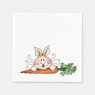 Hungry Bunny Paper Serviettes