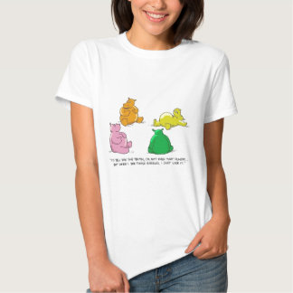 Hungry Hippos! - Ladies Baby Doll T T-shirts