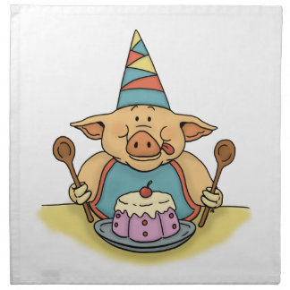 hungry piggy birthday party napkins