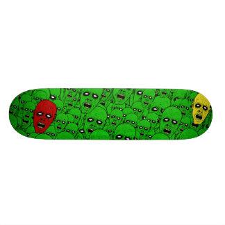 Hungry Undead Zombie Heads Skateboard