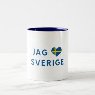 Hunt älskar for Sverige - I love Sweden Two-Tone Mug