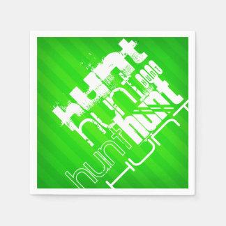 Hunt; Neon Green Stripes Disposable Napkin