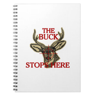 Hunt The Buck Stops Here Spiral Note Book