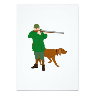 Hunter And A Dog Invitations