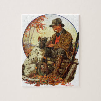 Hunter and Spaniel Jigsaw Puzzle