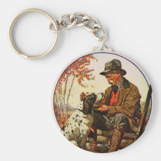 Hunter and Spaniel Key Ring