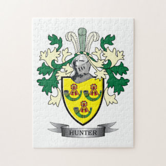 Hunter Family Crest Coat of Arms Jigsaw Puzzle