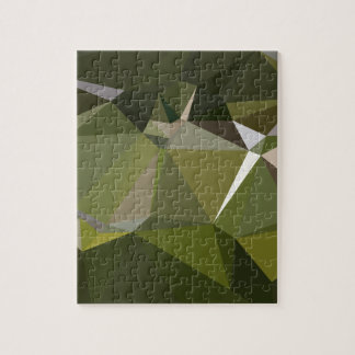 Hunter Green Abstract Low Polygon Background Jigsaw Puzzle