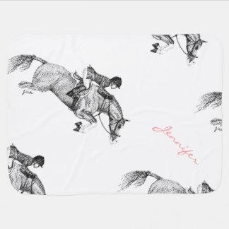 Hunter Pony Pointillism Baby Blanket