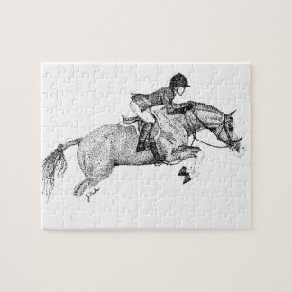 Hunter Pony Pointillism Jigsaw Puzzle