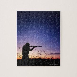 Hunter Silhouette Puzzle