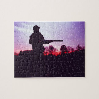 Hunter with Gun Jigsaw Puzzle
