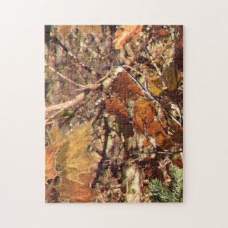 Hunter's Fall Nature Camouflage Painting Decor Jigsaw Puzzle