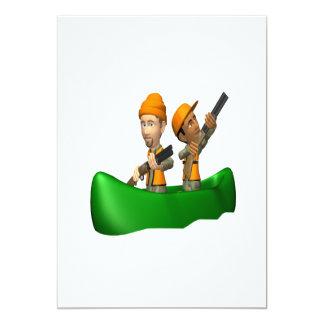 Hunting Boat 13 Cm X 18 Cm Invitation Card