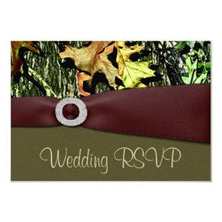 Hunting Camo RSVP Wedding Cards