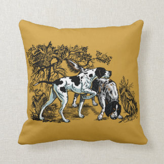 hunting dogs cushion