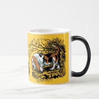 hunting dogs morphing mug