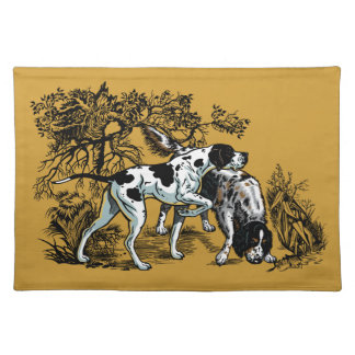 hunting dogs placemat
