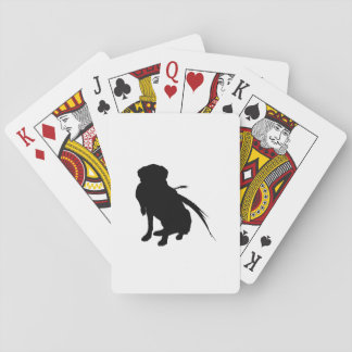 Hunting Labrador Retriever Silhouette Love Dogs Playing Cards