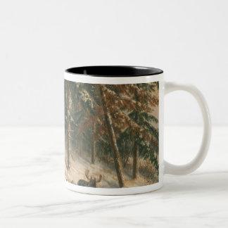 Hunting Moose Two-Tone Coffee Mug