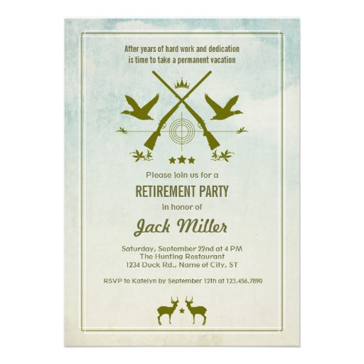 Hunting Retirement Party Invitation