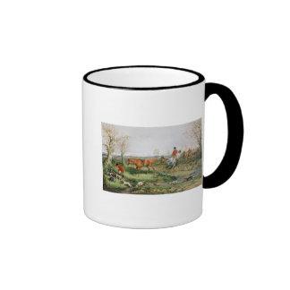 Hunting Scene Ringer Mug