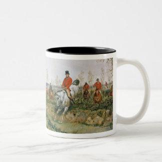 Hunting Scene Two-Tone Coffee Mug
