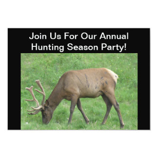 Hunting Season Party Elk Invitation