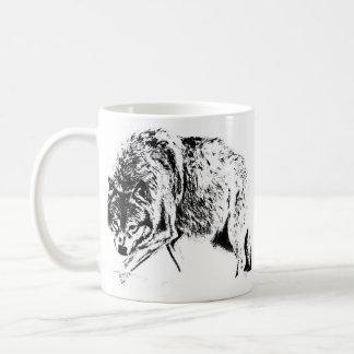 Hunting Wolf Classic White Coffee Mug