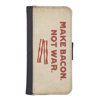 Husband bacon note War iPhone 5/5s Wallet Case