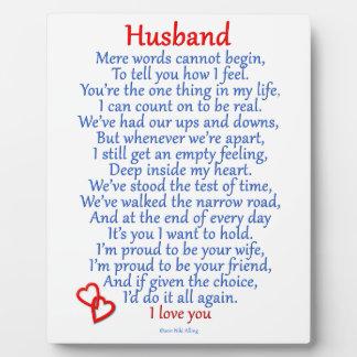 Husband Love Display Plaques