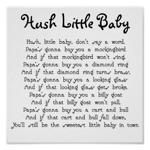 Hush Little Baby Posters