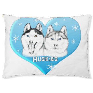 Huskies Blue Pet Bed