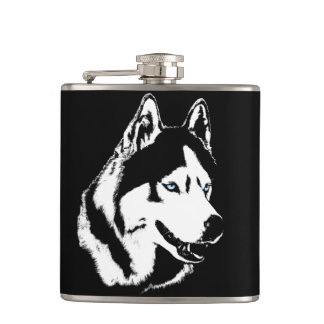 Husky Flask Custom Siberian Husky Drink Flask
